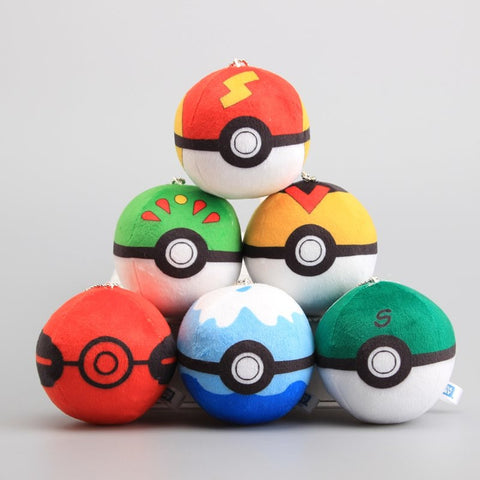 Pokeballs Keychain Pokémon Plush - 3in/8cm 6 Pcs/Set - GoPokeShop