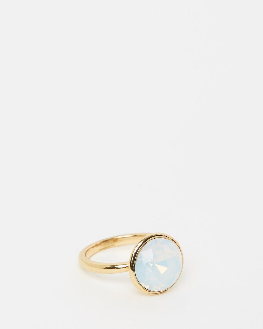 Gold Opal Set of Three Rings