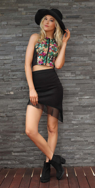Asymmetrical Skirt Black