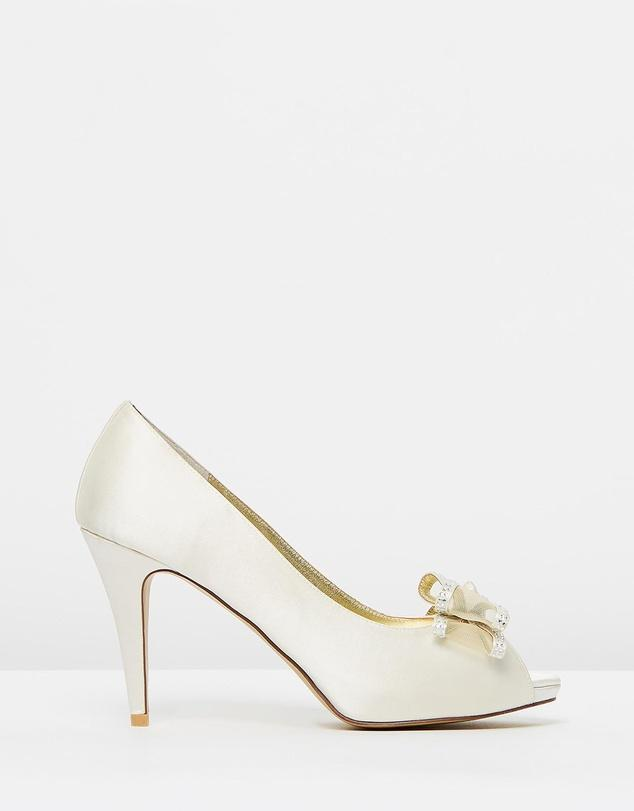 Izoa Ivory Bridal & Evening  Heels