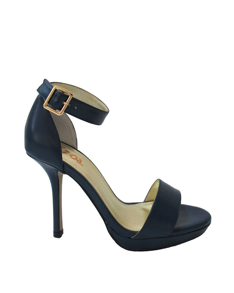 Nappa Navy High Heel Pumps
