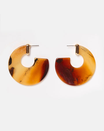 Emmaline Earl Grey Brown Earrings