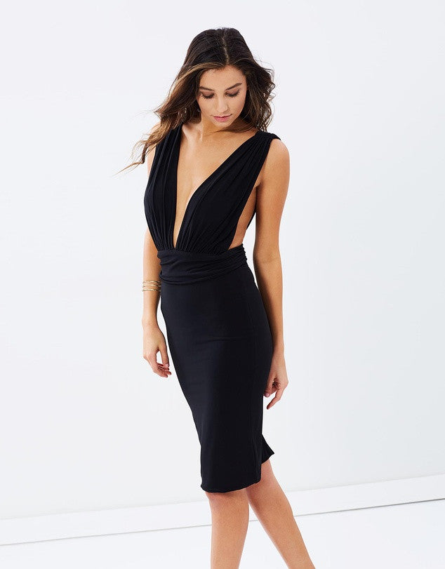Deep V Cocktail Dress