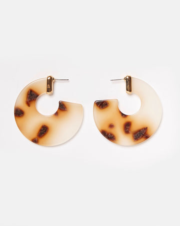 Emmaline White Brown Earrings