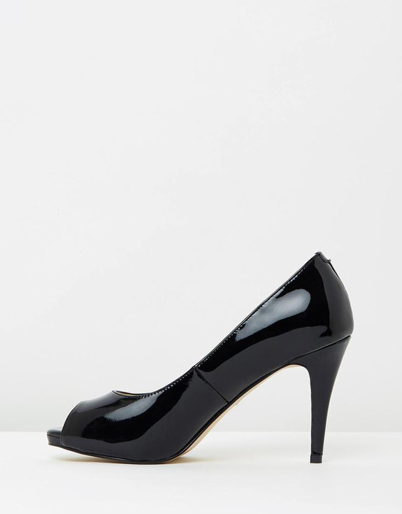 Peeptoe Black Pumps