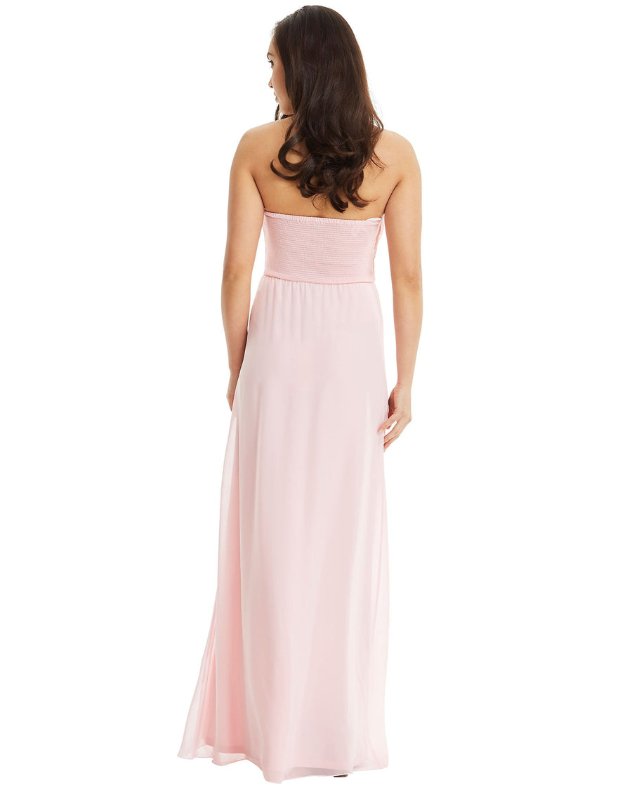 Strapless Chiffon Evening Dress