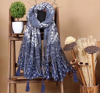 Multi Purpose Scarf With Tassels
