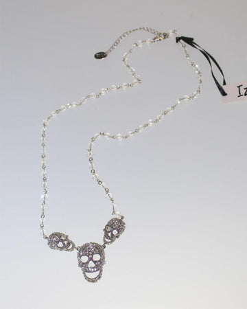 Skull Pendant Silver Necklace