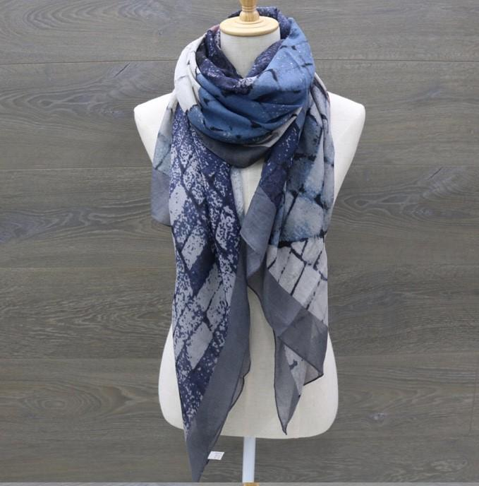 Denim Inspired Scarf