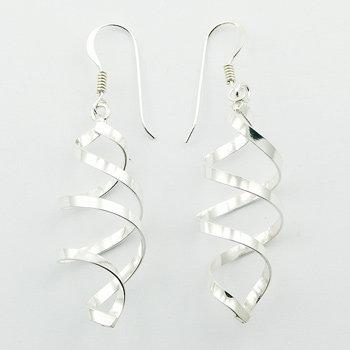 Wirework Silver Dangle Earrings