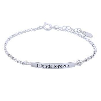 Naw Friends Forever Silver Bracelet