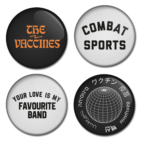 The Vaccines (Combat Sports) Badge Set