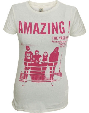 The Vaccines (Amazing) Ecru Ladies T-Shirt