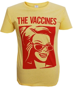 The Vaccines (Glasses) Yellow T-Shirt