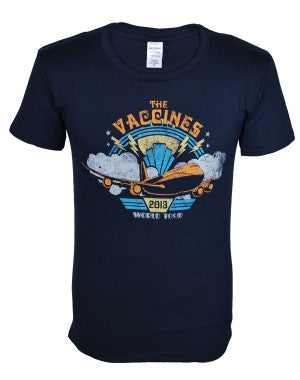 The Vaccines (Airplane) Navy T-Shirt