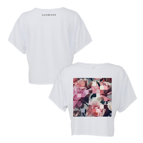 Fitted Every Open Eye Crop Top (White)