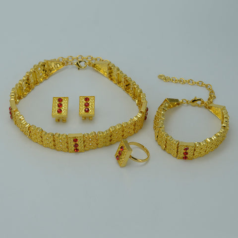Gold Color Ethiopian Jewelry sets - African Style Jewelry