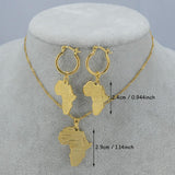Africa Map Jewelry Set - African Style Jewelry