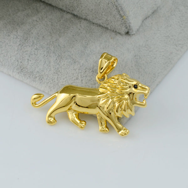 Gold Lion Necklace for Women/Men - African Style Jewelry