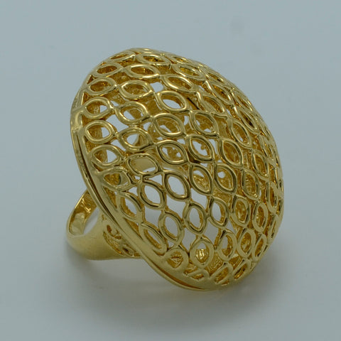 ONE PIECE Gold Color Ethiopian Ring - African Style Jewelry