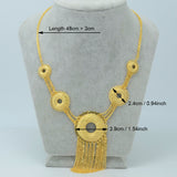 Africa Necklace Women, Gold Color - African Style Jewelry