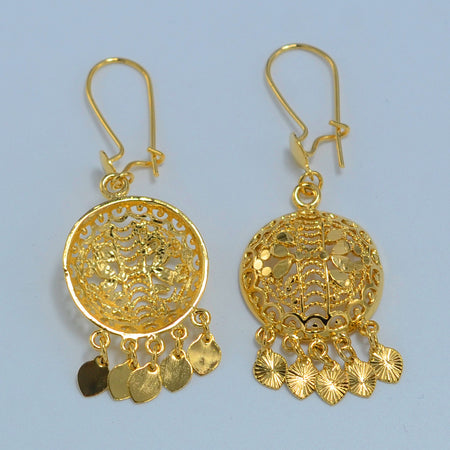Ethiopian Gold color Earrings for Women - African Style Jewelry