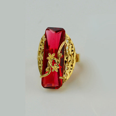 ONE PIECE Gold Color Ring for Women - African Style Jewelry