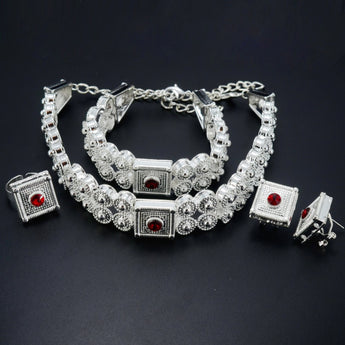 Ethiopian Jewelry set, Silver Color - African Style Jewelry
