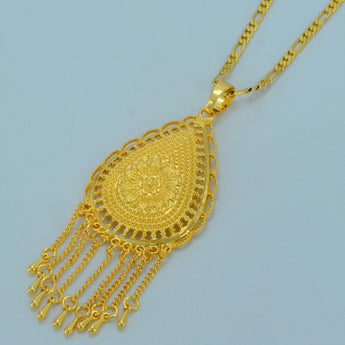 African Ethiopian Gold Color Chain Necklaces - African Style Jewelry