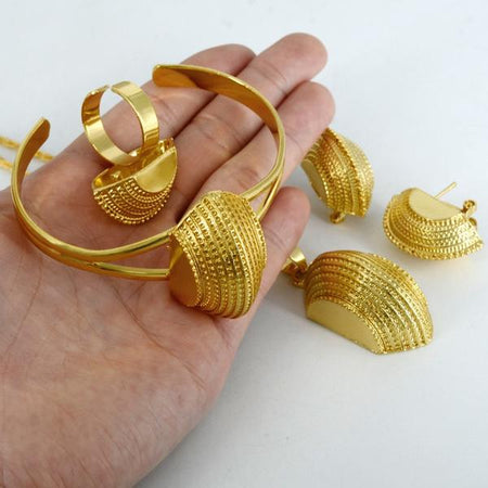 Ethiopian Jewelry sets Gold Color - African Style Jewelry