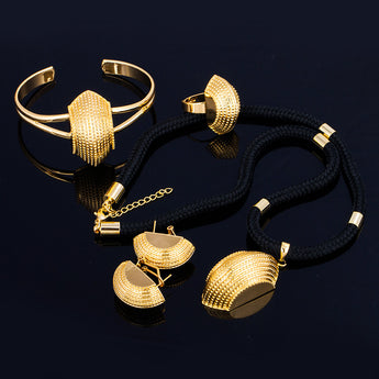 Ethiopian Gold set - African Style Jewelry