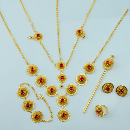 Classic Ethiopian Jewelry set - African Style Jewelry