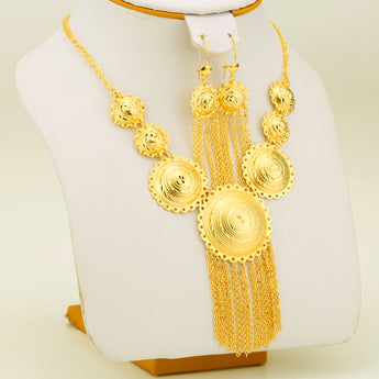 Habesha Gold Color Jewelry Set For Women - African Style Jewelry
