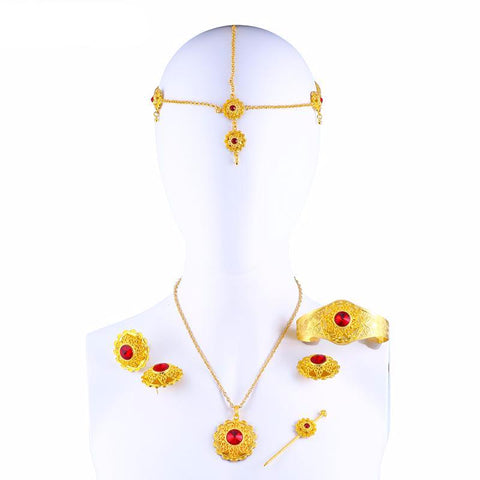Big Fashion Ethiopian Ethnic Jewelry Sets - African Style Jewelry