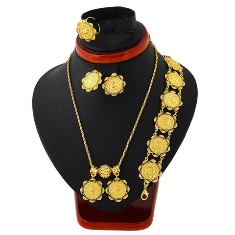 Elegant Ethiopian Coins Jewelry Set - African Style Jewelry