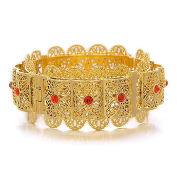 Big Bangle for Women Gold Color - African Style Jewelry