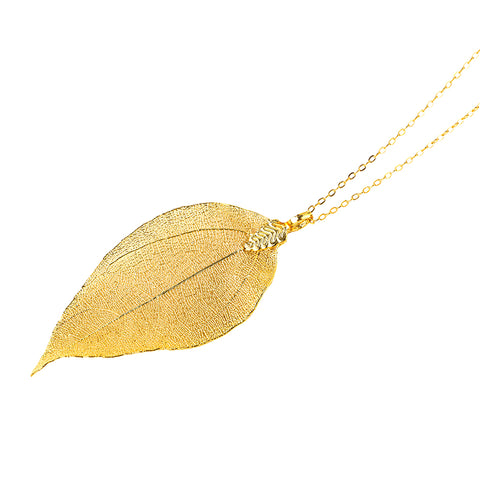 Elegant leaf shapes pendant chain - African Style Jewelry