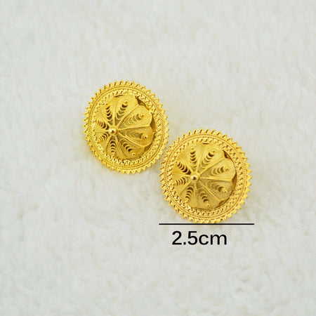 Classical Design Gold Color Ethiopian Earring - African Style Jewelry