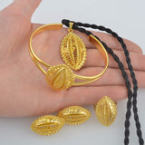 Small Ethiopian Gold Color Jewelry sets - African Style Jewelry