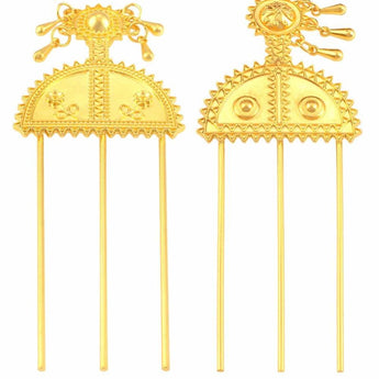 Ethiopian Hairpin Jewelry Gold Color - African Style Jewelry