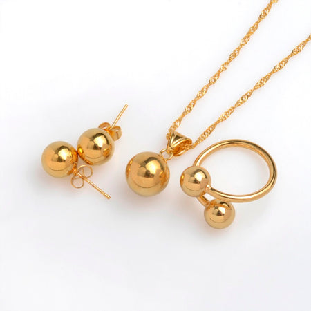 Charm Round Ball Jewelry set - African Style Jewelry
