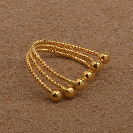Small Ball Rings For Women/Girl Gold Color - African Style Jewelry