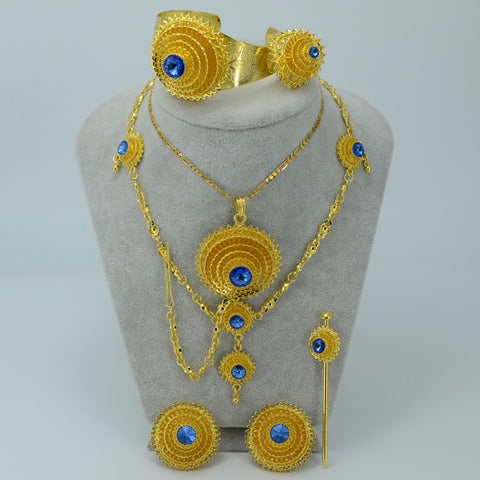 Ethiopian Wedding Complete Set - African Style Jewelry