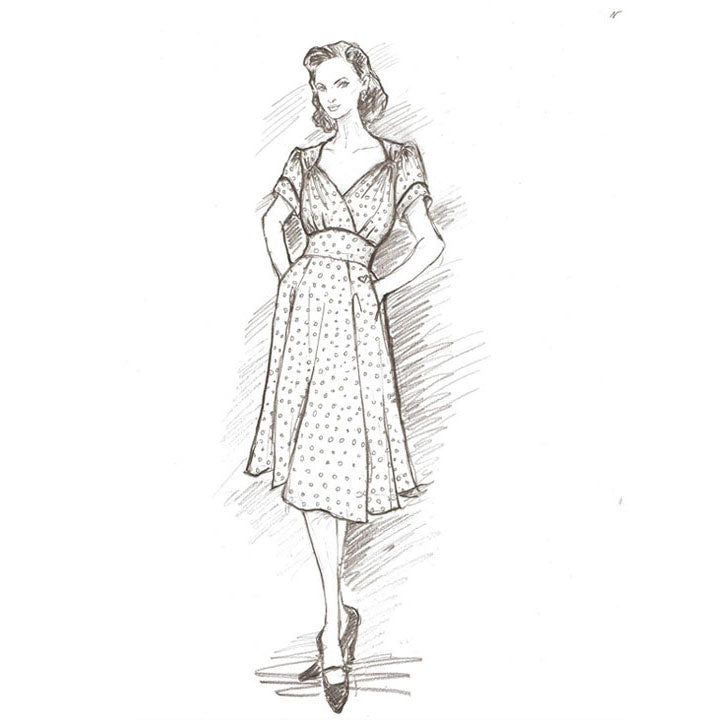 Take a graceful step back to the 1940s with the Ava dress