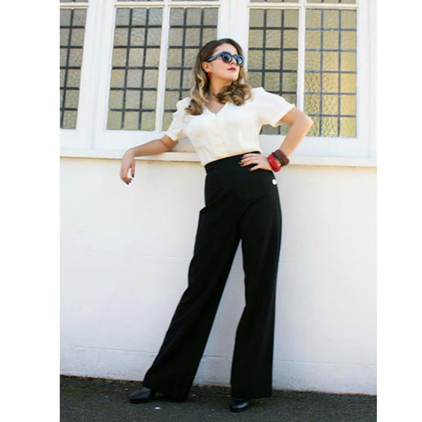 Style tips from the 40s - How to wear high waist trousers