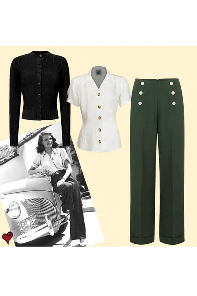 Vintage Forties Trousers Look
