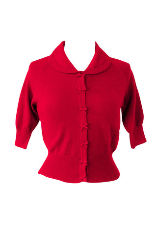 50s style red cute cardigan | Weekend Doll