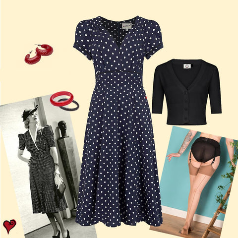 Vintage inspired tea dress look for races | Weekend Doll