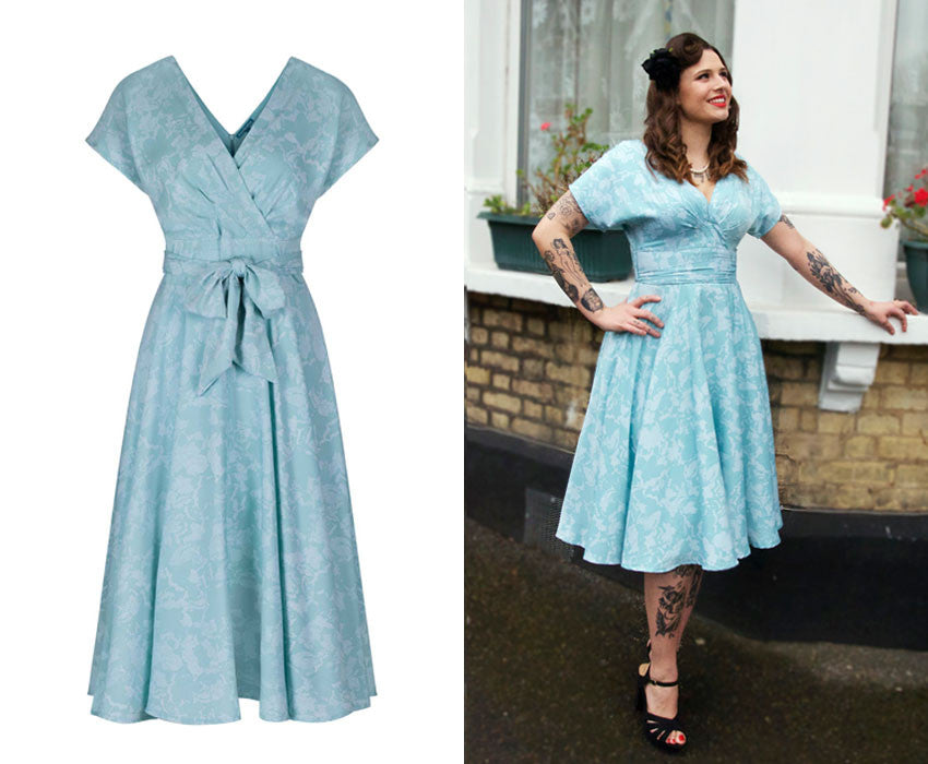 50s-inspired with ts kimono-style sleeves, a flattering crossover dress | Weekend Doll