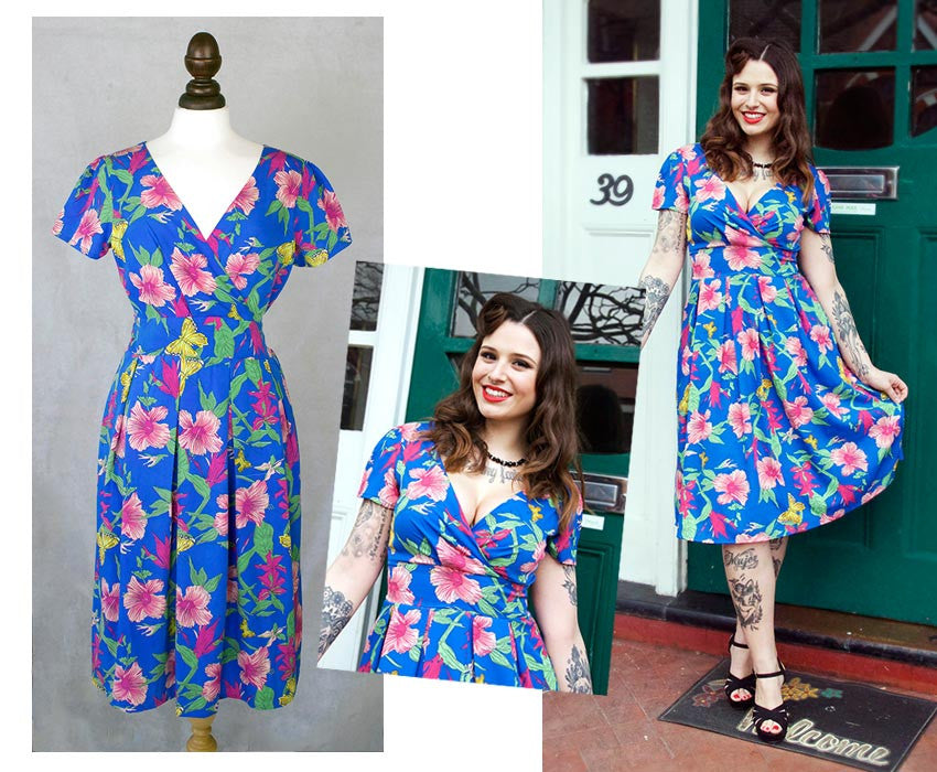 Orchid 40s-inspired wrap dress | Blog Post | Weekend Doll